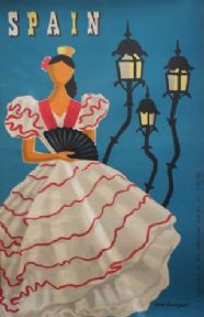 Spanish poster - Sevilla Spain Travel (1950)